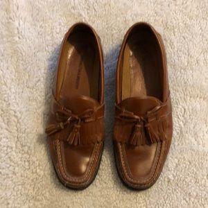 Johnston & Murphy Leather Tassle Loafers, 10M